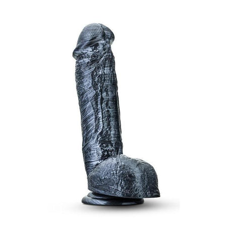Extra Thick Carbon Black Dildo with Suction Cup 8.5 Inch