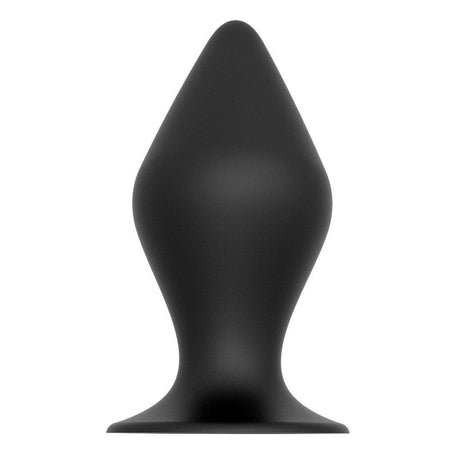 Bulbous Silicone Medium Butt Plug with Suction Cup 4.9 Inch