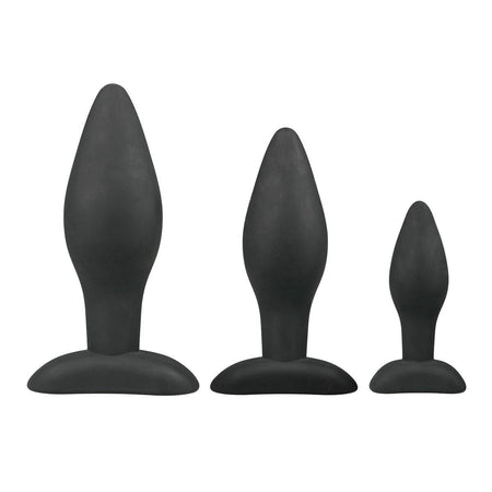 Tapered Silicone Butt Plug Beginner Set
