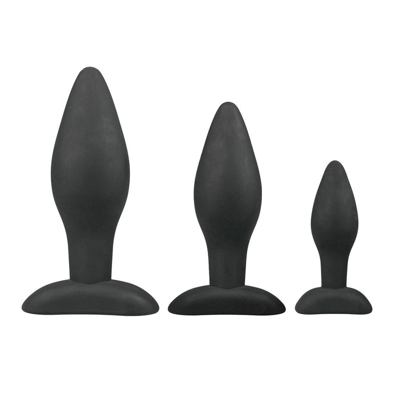 Shop online for Tapered Silicone Butt Plug Beginner Set by EasyToys at Ricky.com