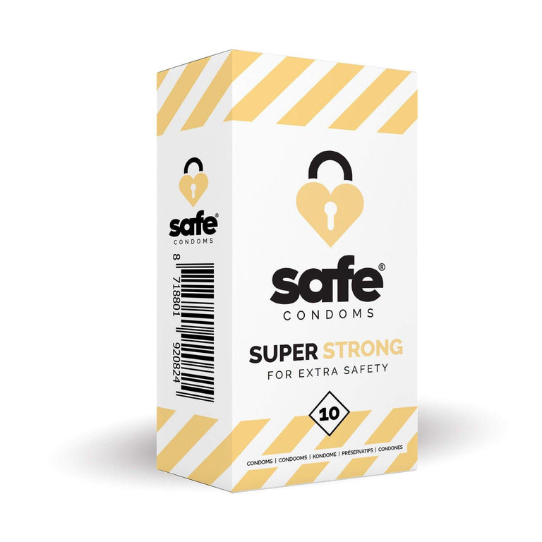 Safe Condoms Super Strong For Extra Safety 10 Pack by Safe Condoms on Ricky.com