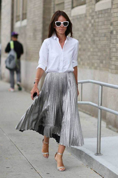 pleated skirt vintage inspired fashion