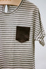 Striped Tee With Pocket