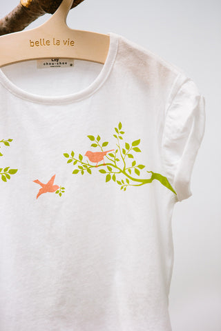 Bird Roll-Up Sleeves Tee
