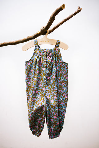 Floral Overall Romper