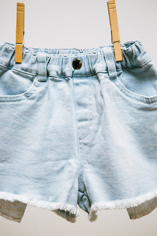 Lace Pocket Jean Shorts
