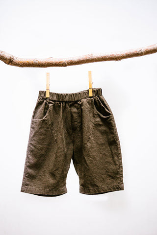 Linen Shorts  With Front/Back Pckets