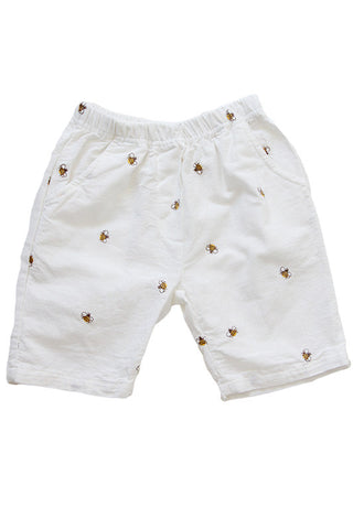 Bees Shorts White