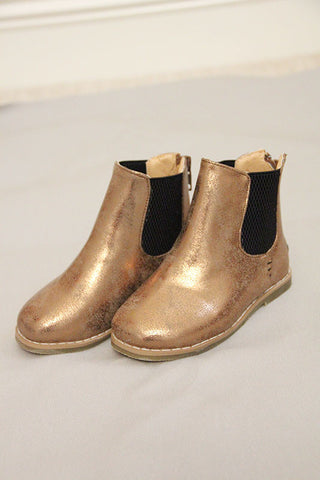 Metallic Gold Boots