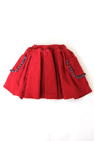 Pompom Pocket Skirt