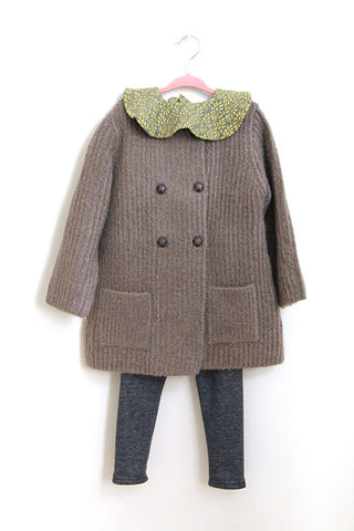 Double Button Knit Coat