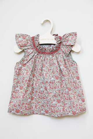 Baby - Floral Smocking Blouse