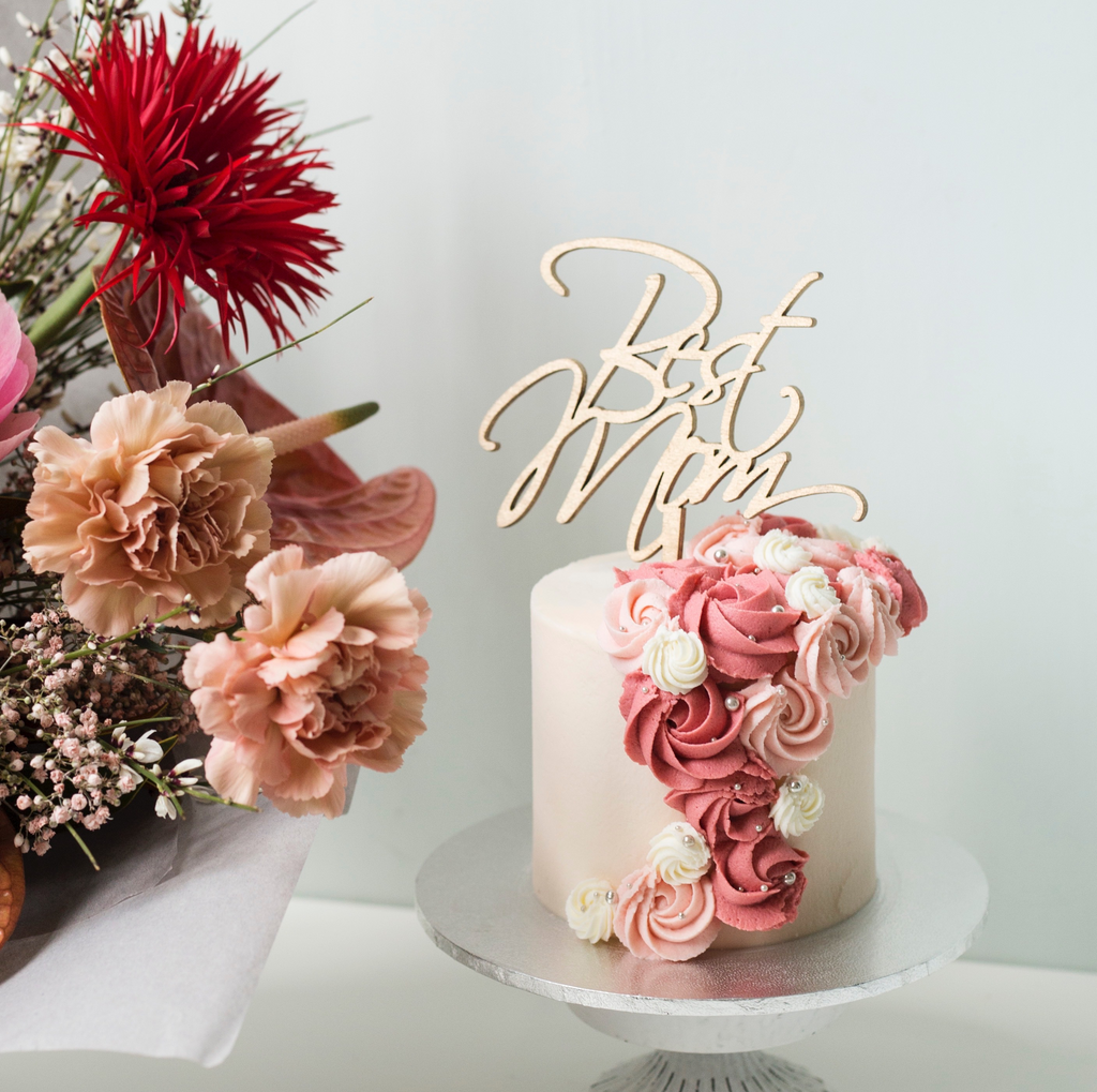 Mother's Day - Buttercream Florals Cake [Strawberry Red Velvet]