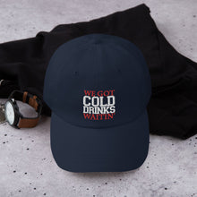 "Load image into Gallery viewer, CMY ""COLD DRINKS!"" Dad hat"
