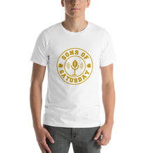 Load image into Gallery viewer, Sons of Saturday Tee (Gold Logo)