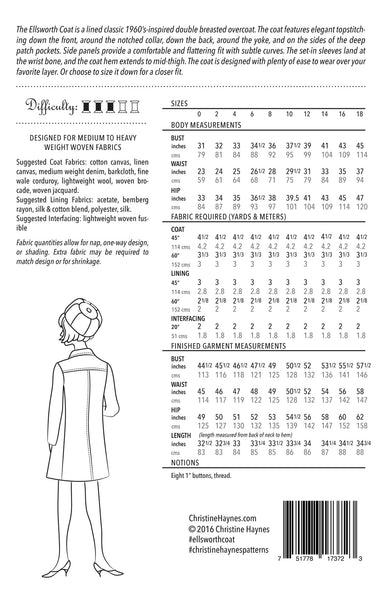 Ellsworth Coat PDF Sewing Pattern