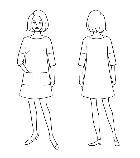 Lottie Dress & Shirt PDF Sewing Pattern