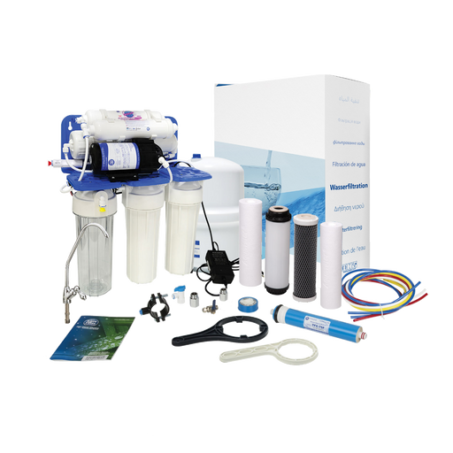 Aquafilter 6 Stage Reverse Osmosis System with Pump and Mineralizing Cartridge
