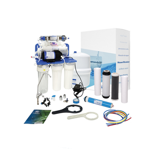 Aquafilter 7 Stage Reverse Osmosis System with Pump and Mineralizing Cartridge