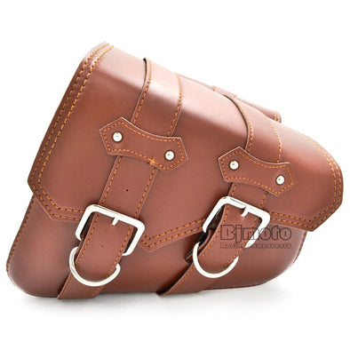 Motorcycle Leather Saddle Bag