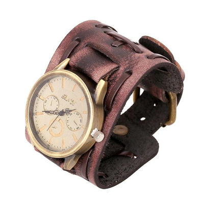 Genuine Leather Bracelets Watch