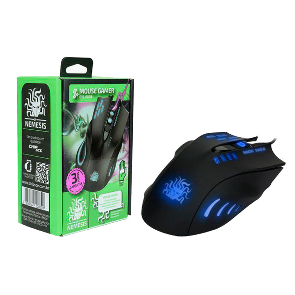 Mouse Gamer 2400DPI 6 Botões Palm Grip