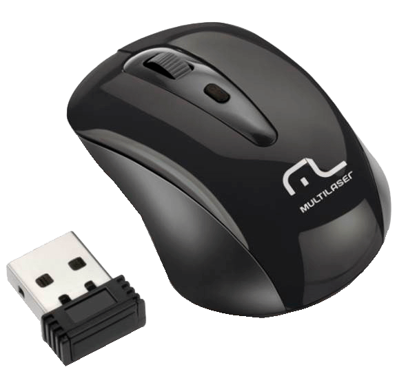 Mouse Optico sem fio 2.4 GHz Multilaser