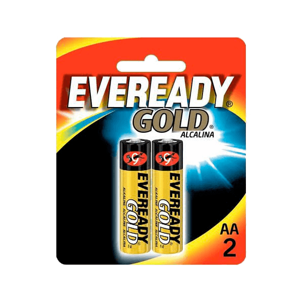 Pilhas Gold Eveready AA C/2