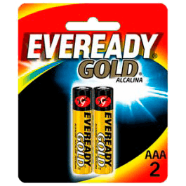 Pilhas Gold Eveready AAA C/2