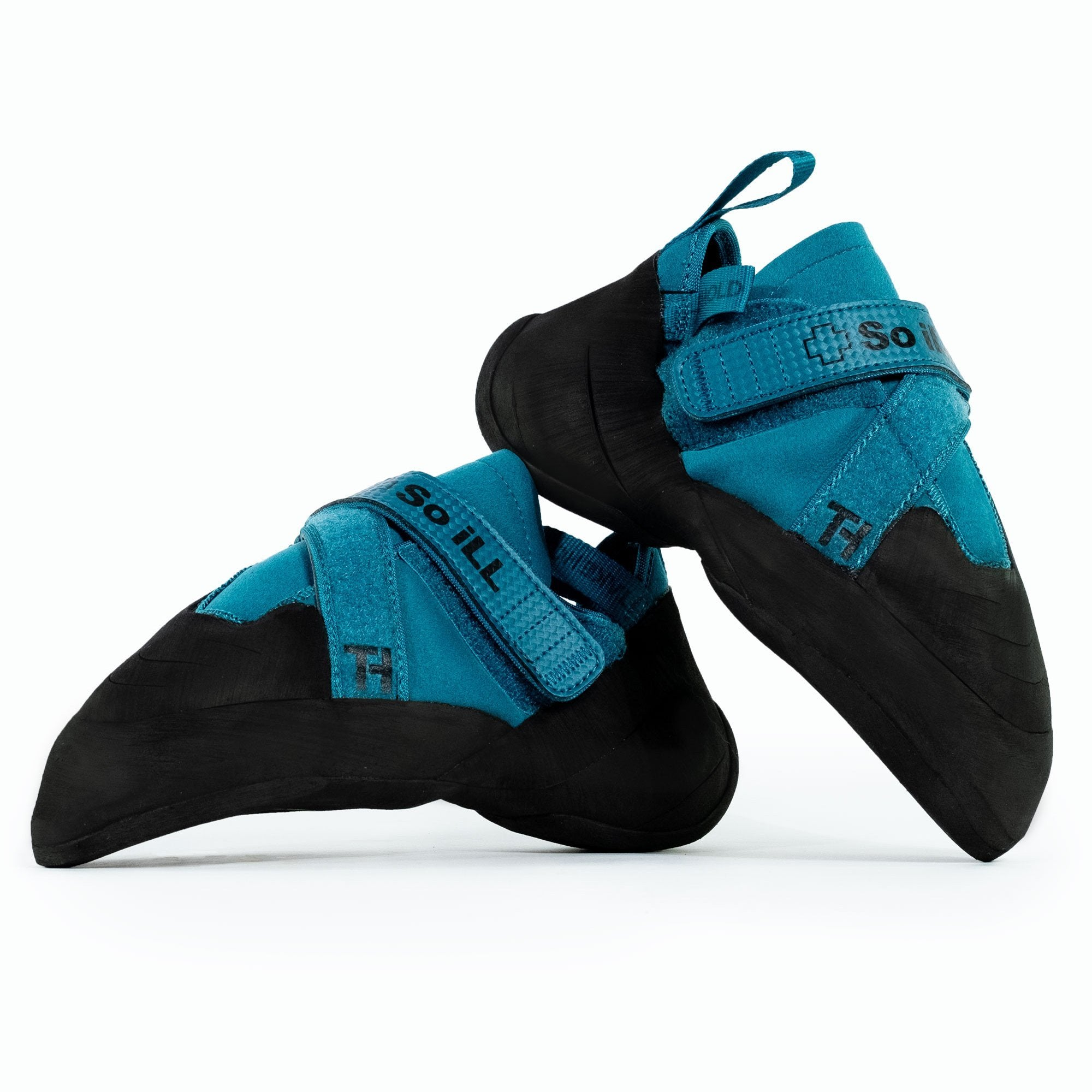 So iLL Free Range Pro Rock Climbing Shoe in Blue Spruce – Pair Side View
