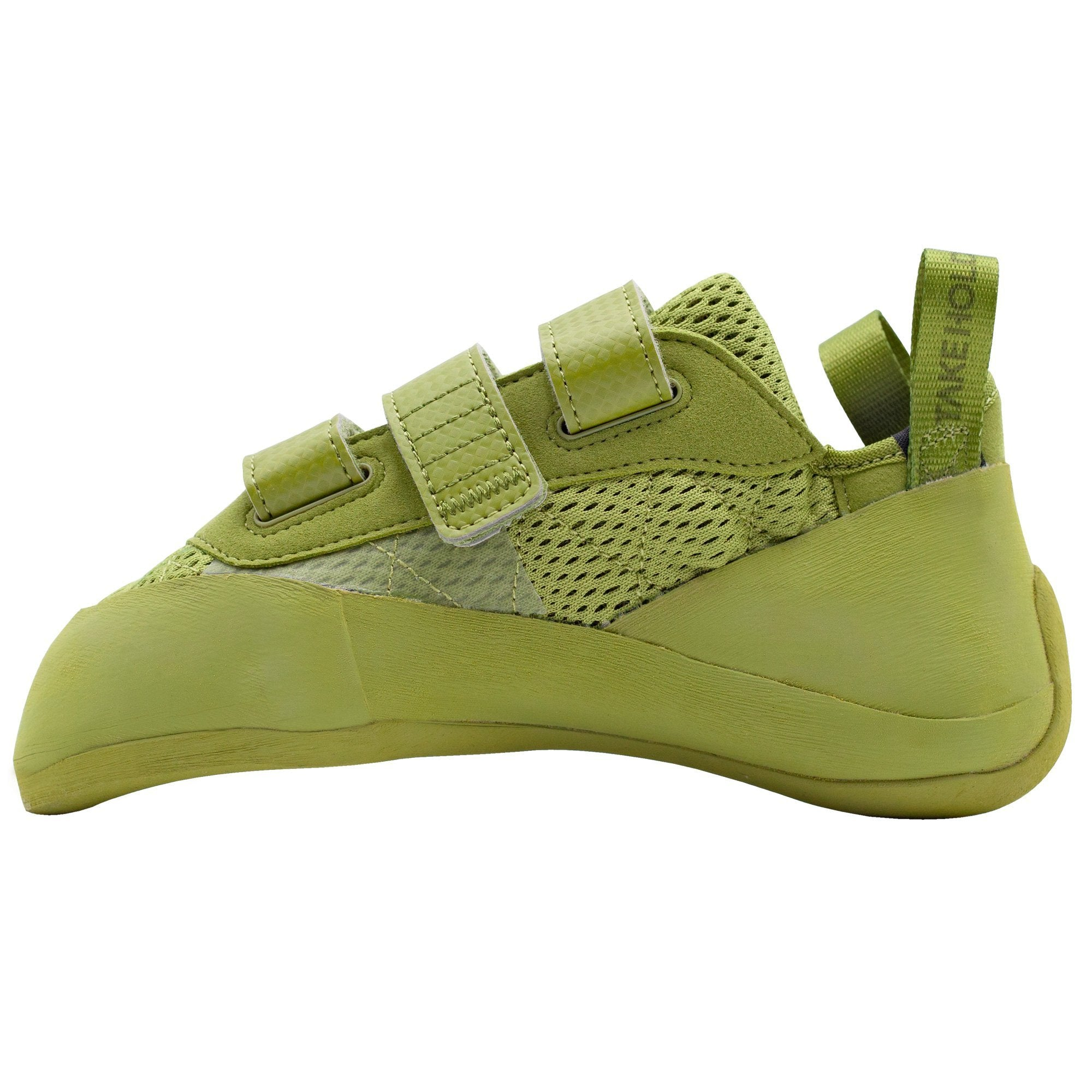 So iLL Runner LV Low Volume Women's Rock Climbing Shoe in Olive – Side View