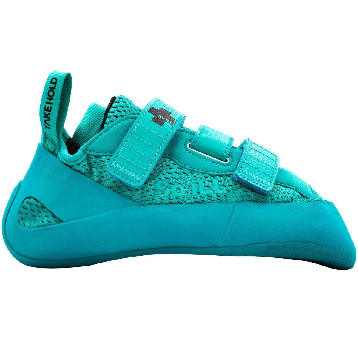 So iLL Runner Rock Climbing Shoe in Teal – Side View