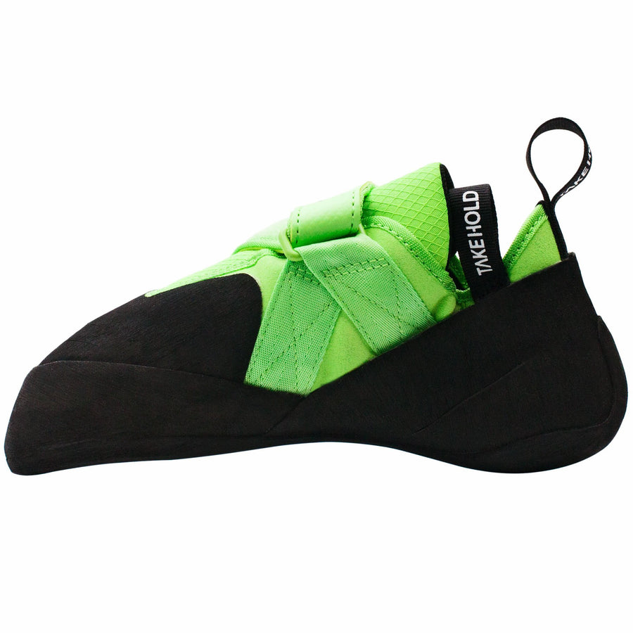 So iLL The Free Range Rock Climbing Shoe in Green – Side View
