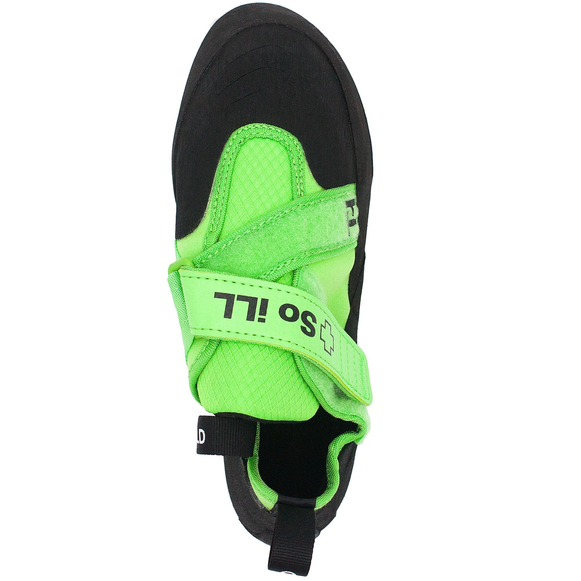 So iLL The Free Range Rock Climbing Shoe in Green – Top View