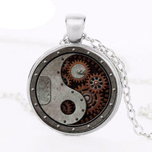 Load image into Gallery viewer, Steampunk Round Wheel Gear Necklace