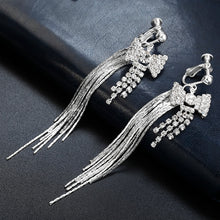 Load image into Gallery viewer, Luxury Silver Clip on Earring
