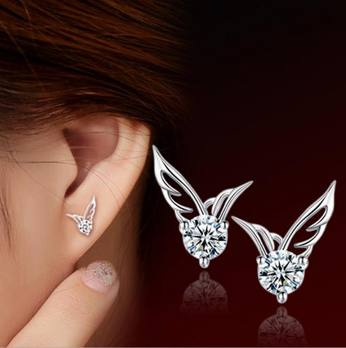 Angel Wings 925 Sterling Silver Earrings