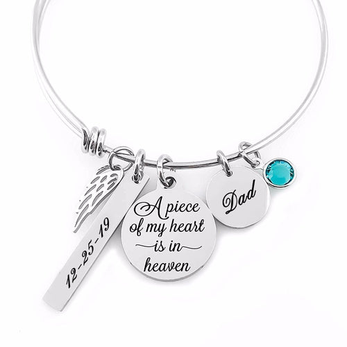 A Piece Of My Heart is in Heaven Bangle