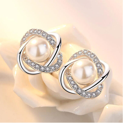 925 Twist Luxury Stud Earrings