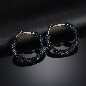Bling Fashion Round Earrings