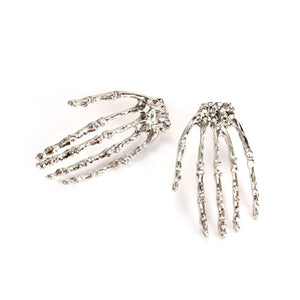 Gothic Skeleton Hand Stud Earrings