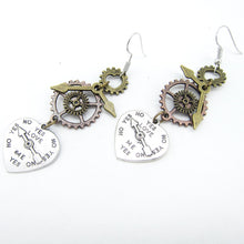 Load image into Gallery viewer, Steampunk Love Charm Drop Earrings