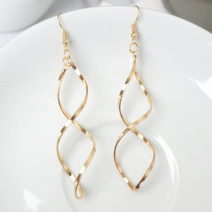 Double Loop Elegant Earrings