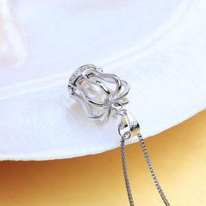 925 Crown Cage Necklace