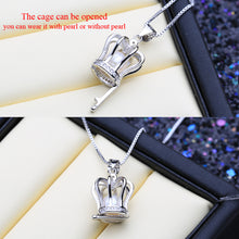 Load image into Gallery viewer, 925 Crown Cage Necklace
