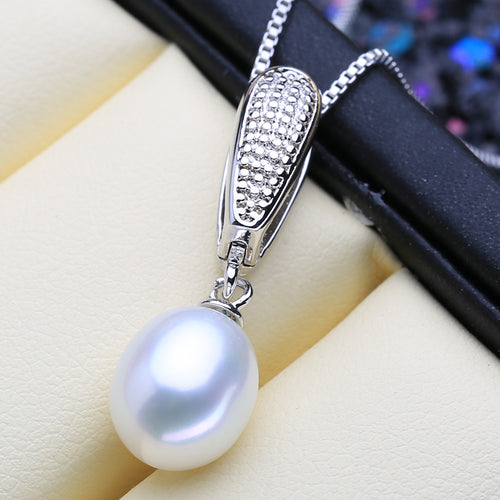 925 Elegant Pearl Drop Necklace