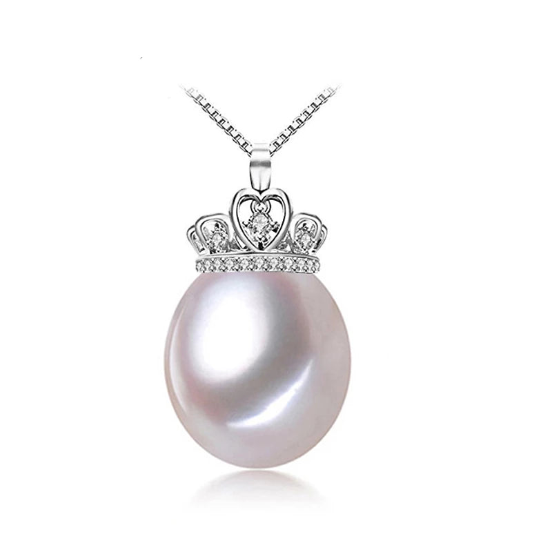 925 Crowned Pearl Necklace