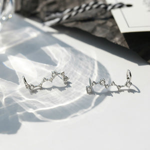 Sterling Silver Unique Dipper Earring