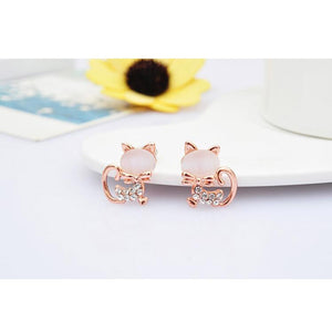 Simple Stylish Cat Clip On Earrings