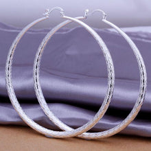 Load image into Gallery viewer, Sterling Silver Large Hooped Earring